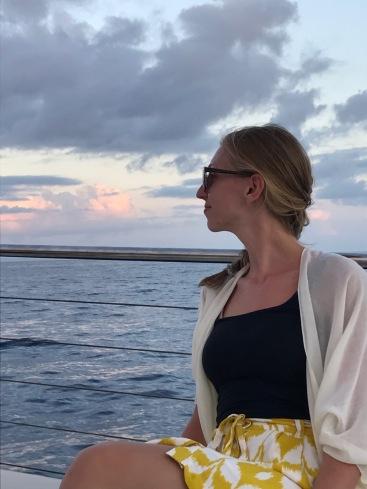 beach, boat, woman