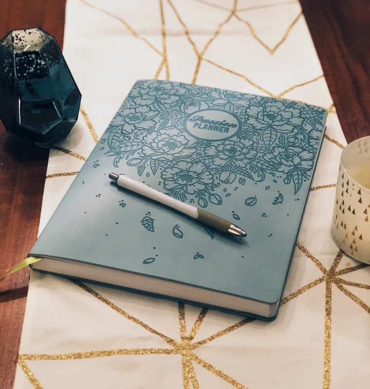passion planner with candles