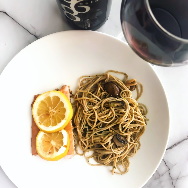 Honey-Ginger Salmon + Soba Noodles
